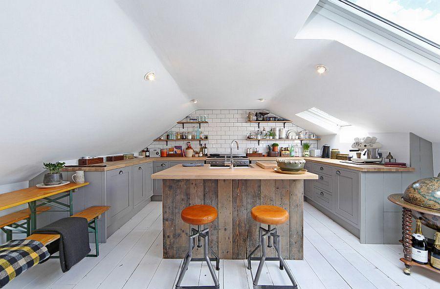 Кухня в индустриальном стиле - Фото 62