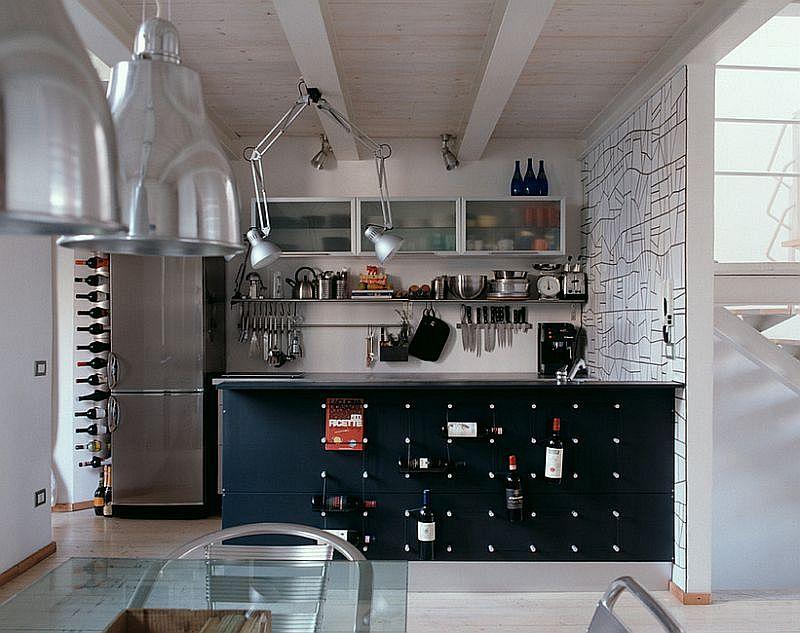 Кухня в индустриальном стиле - Фото 63