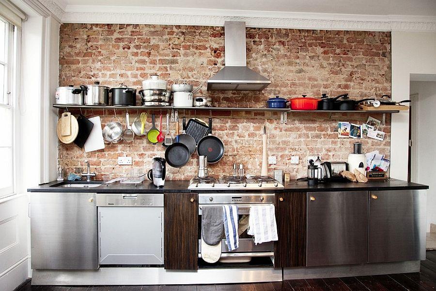 Кухня в индустриальном стиле - Фото 68