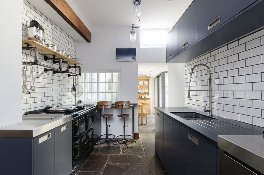 Кухня в индустриальном стиле - Фото 69