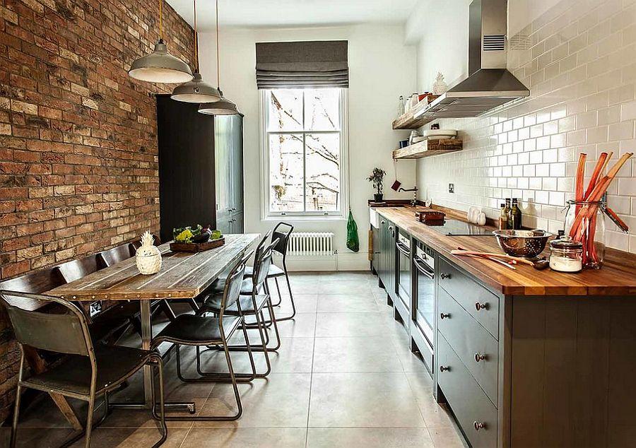 Кухня в индустриальном стиле - Фото 72