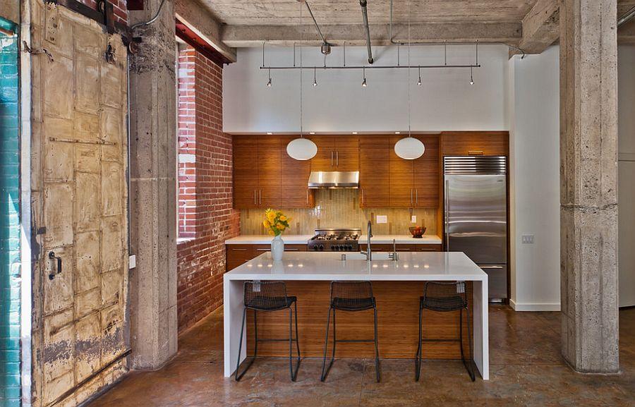 Кухня в индустриальном стиле - Фото 73