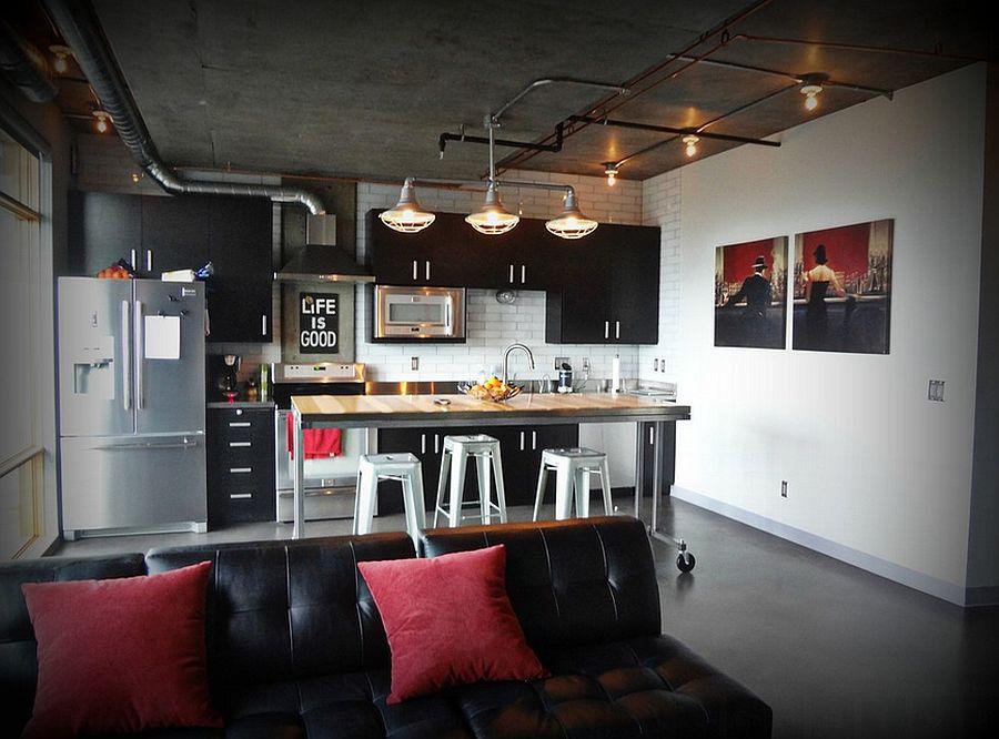 Кухня в индустриальном стиле - Фото 74