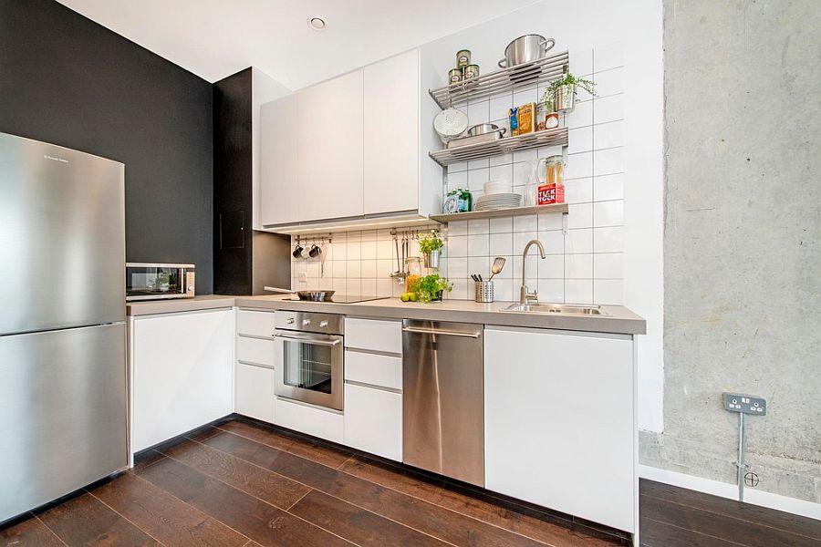 Кухня в индустриальном стиле - Фото 78