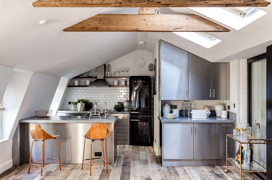 Кухня в индустриальном стиле - Фото 79