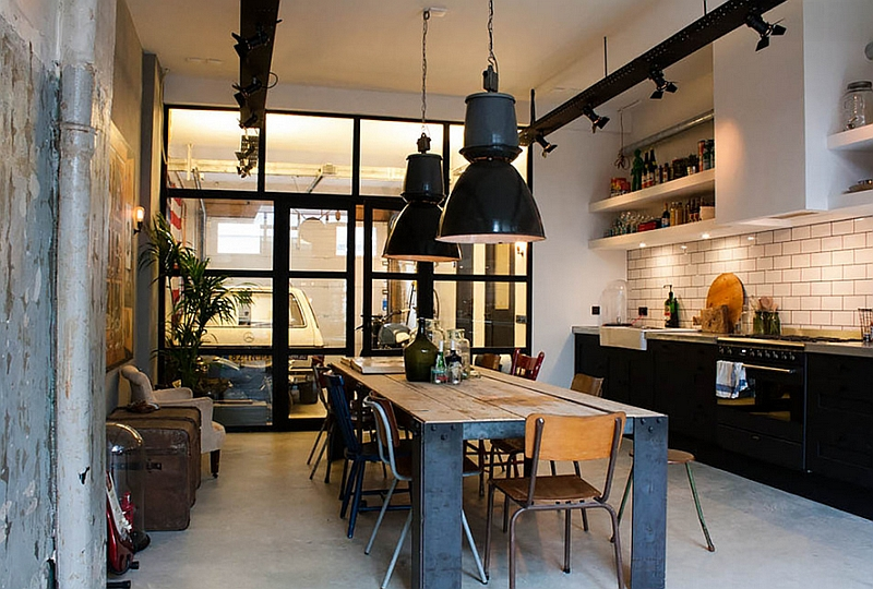 Кухня в индустриальном стиле - Фото 80