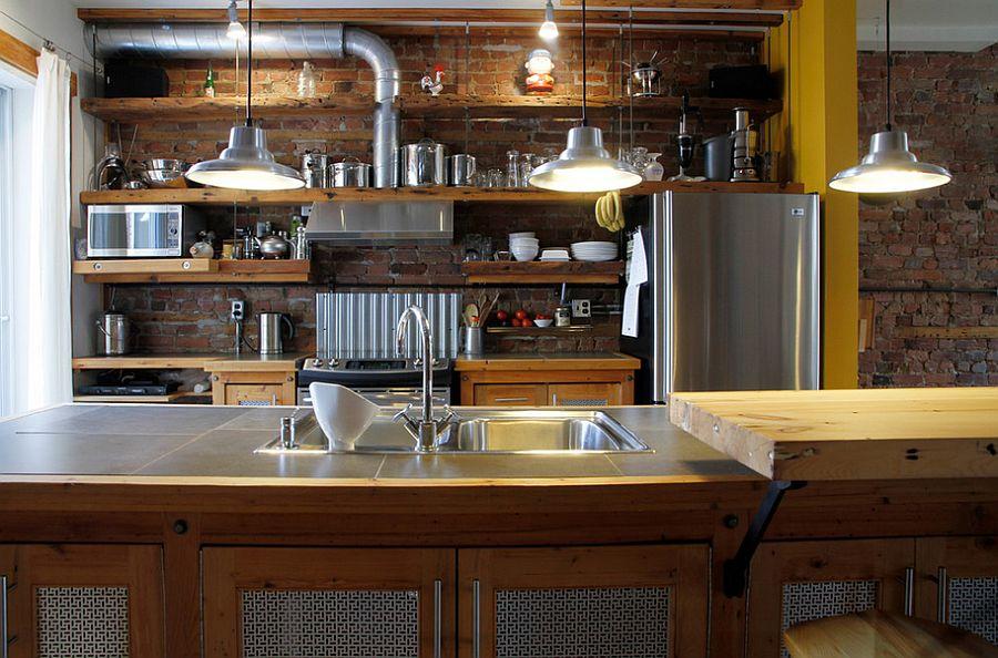 Кухня в индустриальном стиле - Фото 82