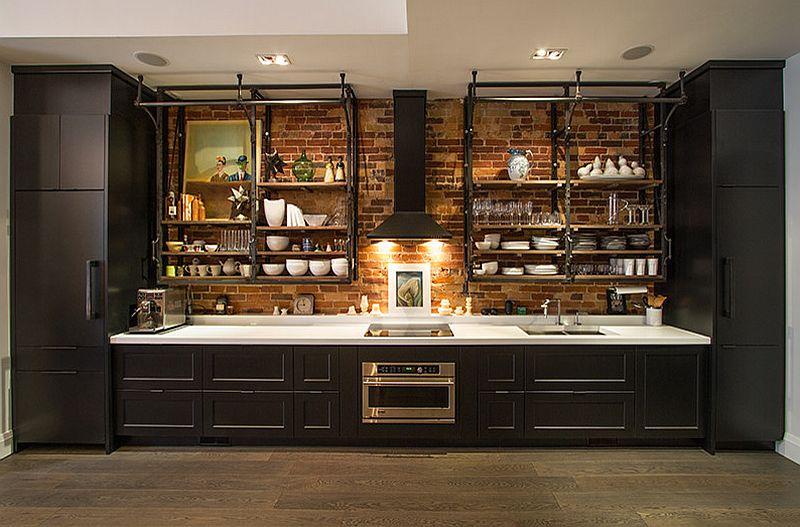 Кухня в индустриальном стиле - Фото 85
