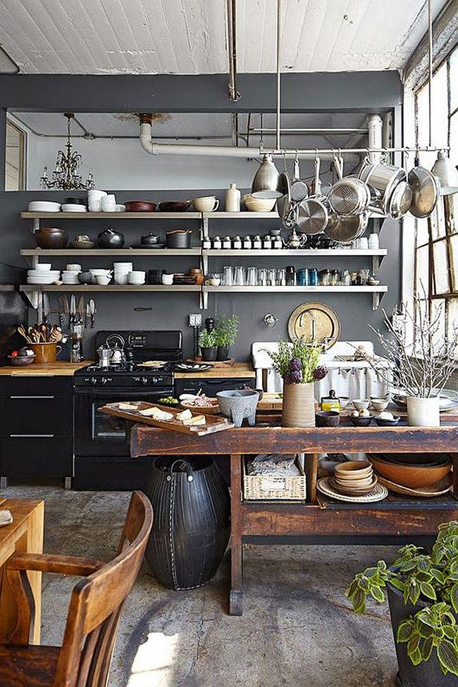 Кухня в индустриальном стиле - Фото 87