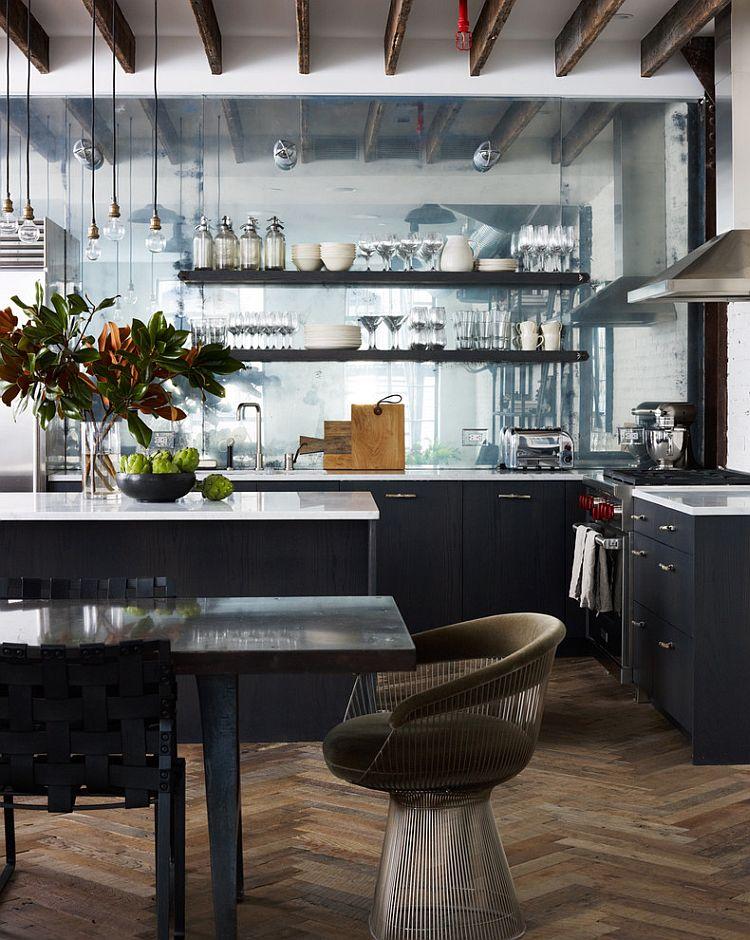 Кухня в индустриальном стиле - Фото 88
