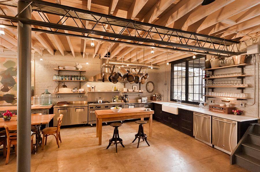 Кухня в индустриальном стиле - Фото 90