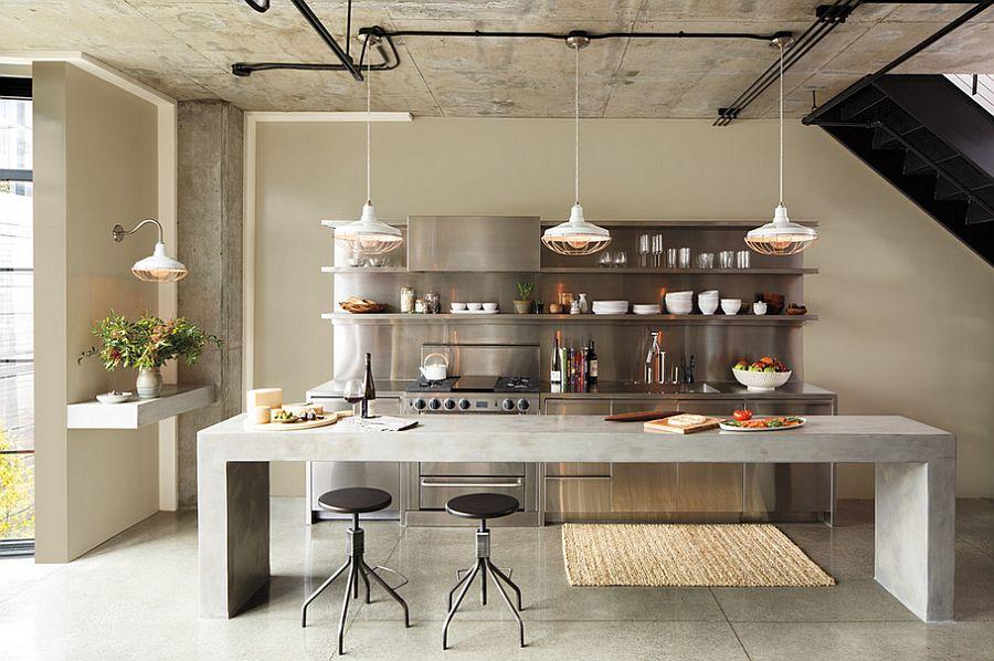Кухня в индустриальном стиле - Фото 95