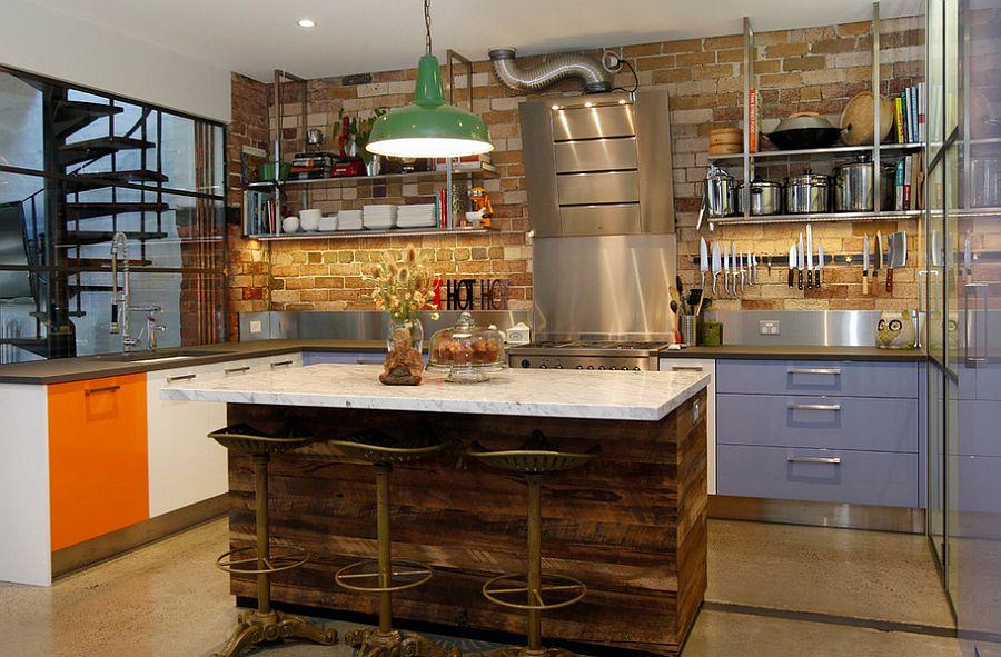 Кухня в индустриальном стиле - Фото 96