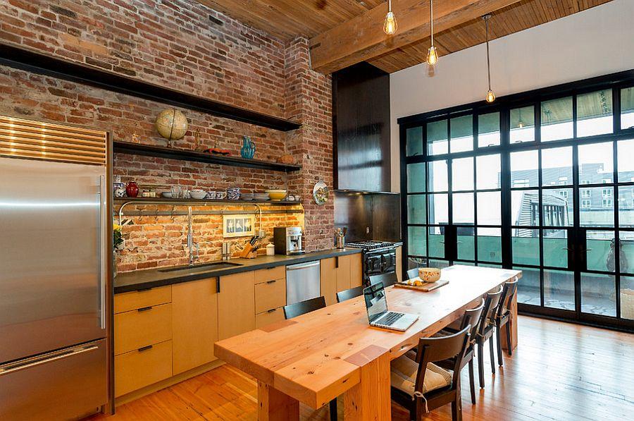 Кухня в индустриальном стиле - Фото 97
