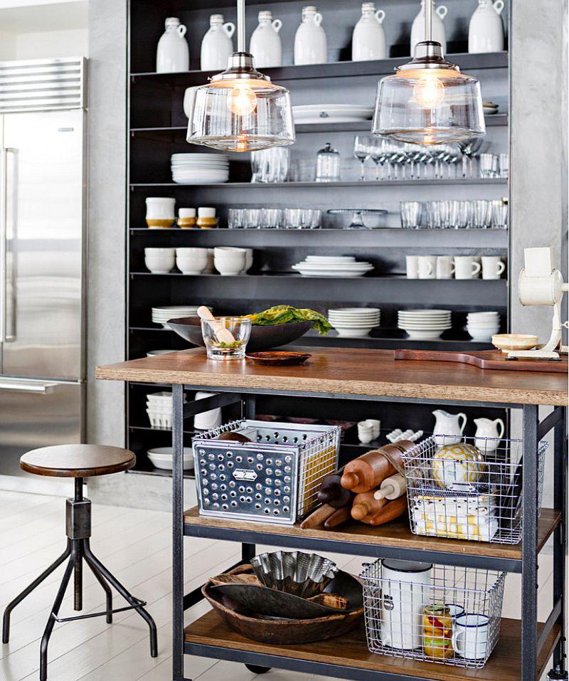 Кухня в индустриальном стиле - Фото 100