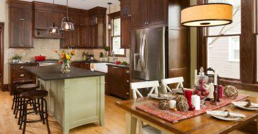 Кухня в коричневых тонах - до и после