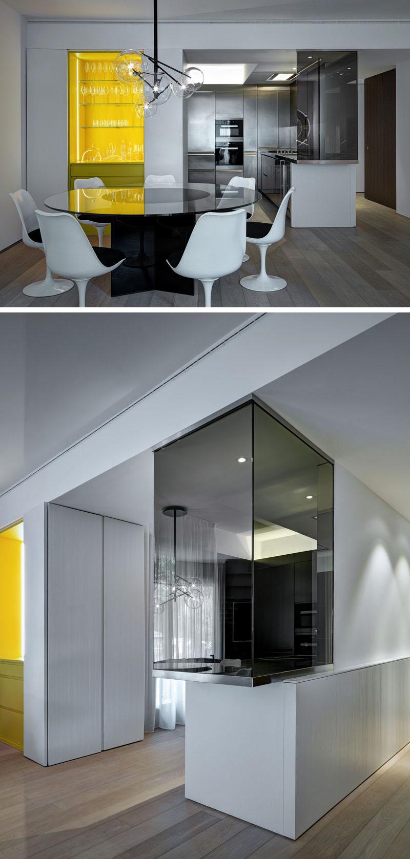 Кухня в современном стиле: жёлтые акценты в интерьере