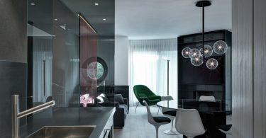 Дизайн интерьера кухни в современном стиле из стали