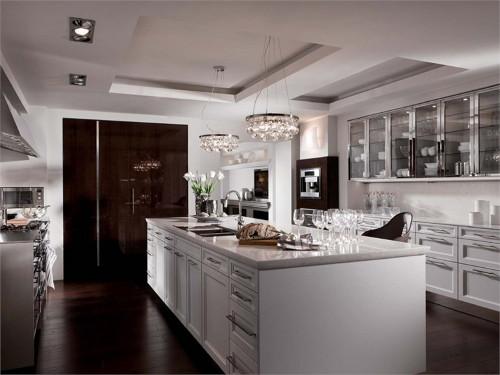 Кухня в стиле эклектика с островом