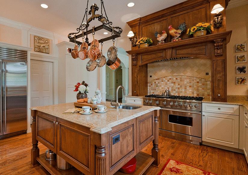 Кухня в стиле прованс - Фото 30
