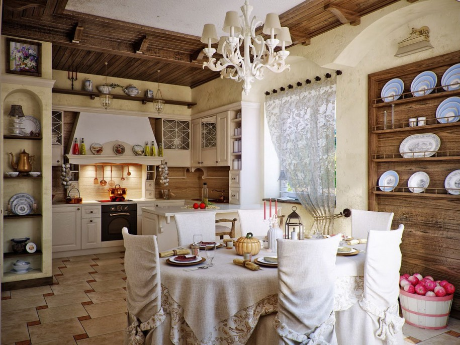 Кухня в стиле прованс - Фото 35
