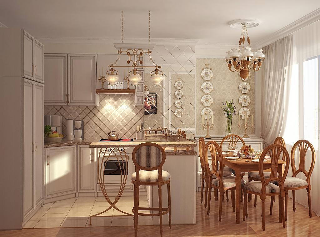 Кухня в стиле прованс - Фото 41