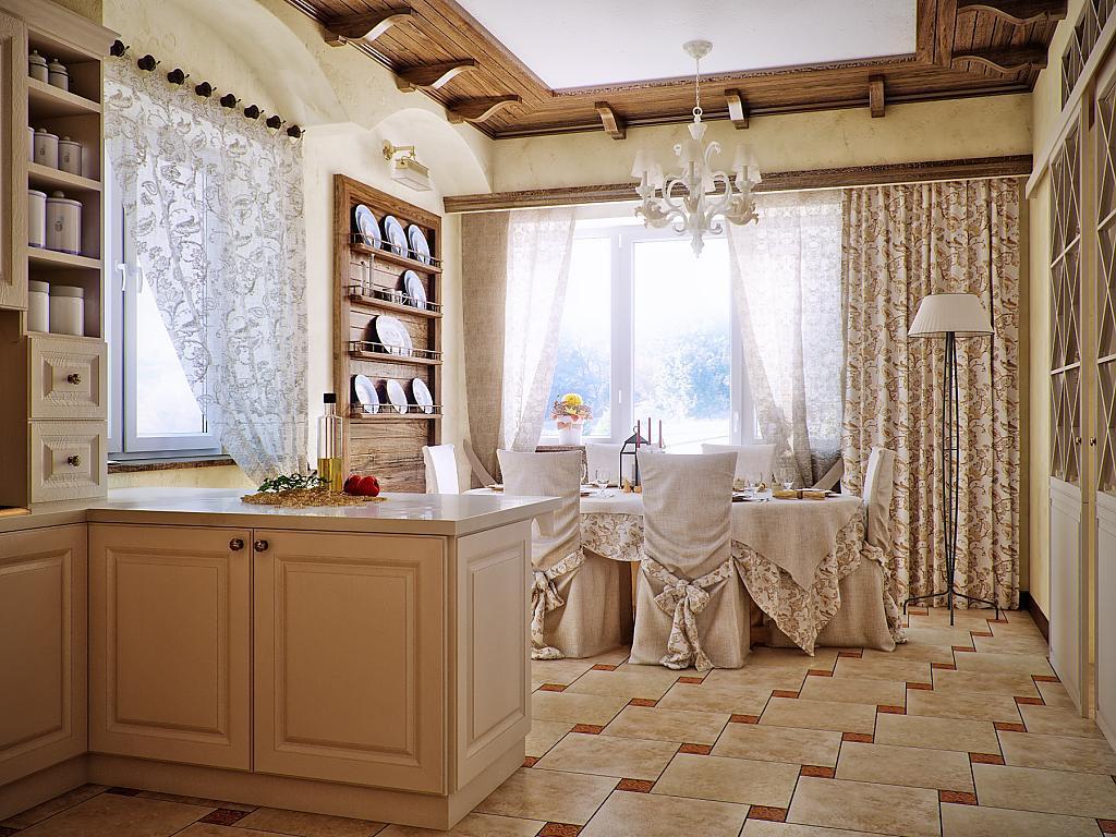 Кухня в стиле прованс - Фото 45