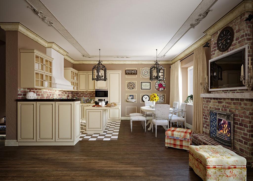 Кухня в стиле прованс - Фото 53