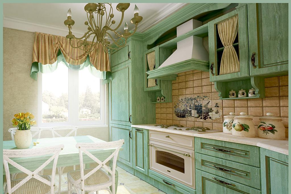 Кухня в стиле прованс - Фото 54