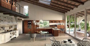 Кухня в стиле винтаж от итальянских дизайнеров