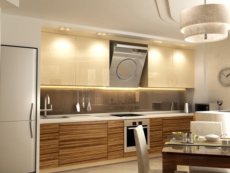 Кухни зебрано дизайн