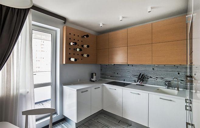 Акриловая столешница в интерьере кухни