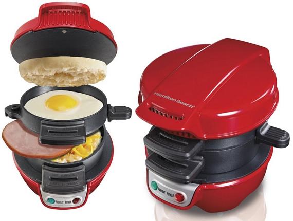 Кухонный гаджет: электрическая двухуровневая  мини-сковородка