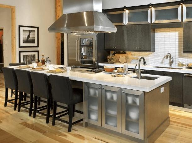 Дизайн кухонного острова. Фото 11