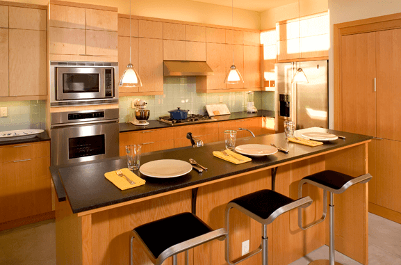 Дизайн кухонного острова. Фото 12