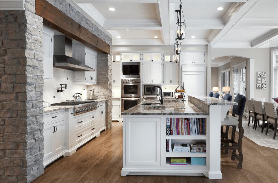 Дизайн кухонного острова. Фото 41
