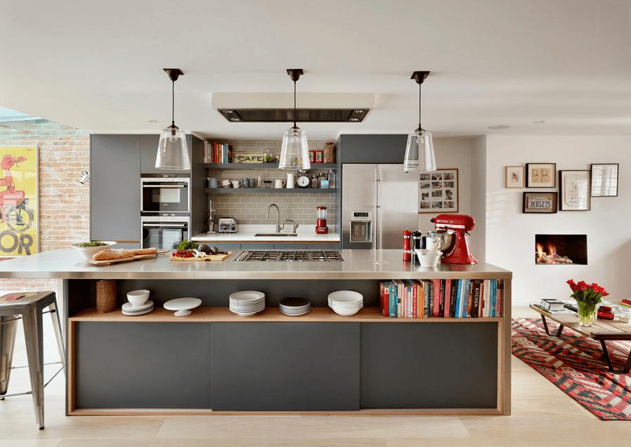 Дизайн кухонного острова. Фото 46