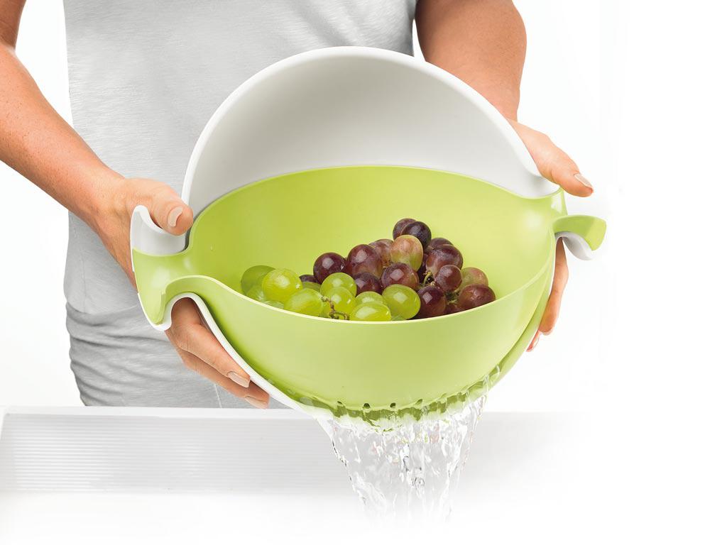 Кухонная миска дуршлаг Spin & Drain