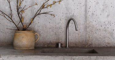 Кухонные фартуки: идеи из бетона