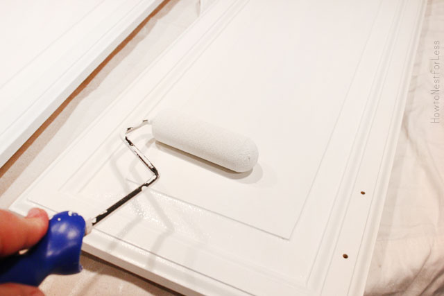 Покраска дверки шкафчика