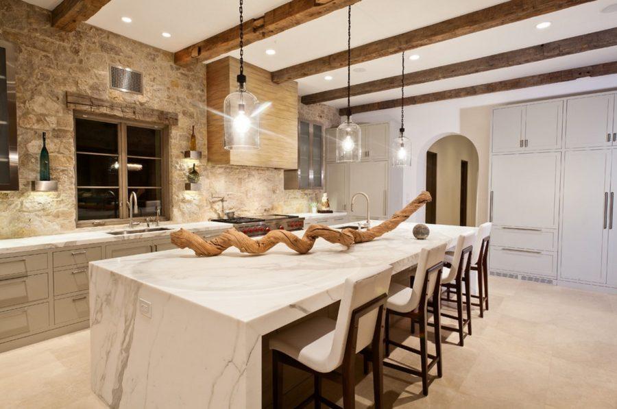 Кухонные современные шкафы - необычный гарнитур. Фото 3