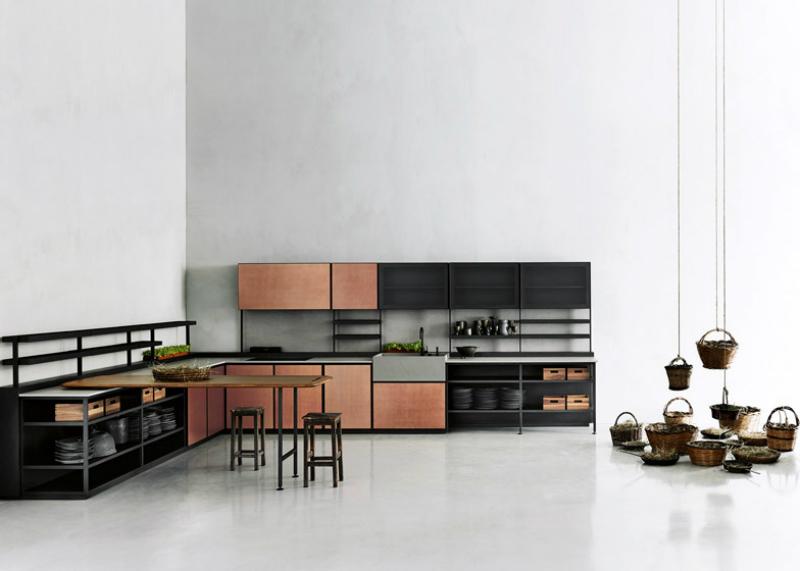 Кухонные современные шкафы - минимализм