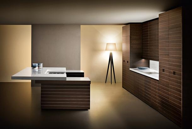 Оригинальный дизайн кухни Slide в минималистском стиле