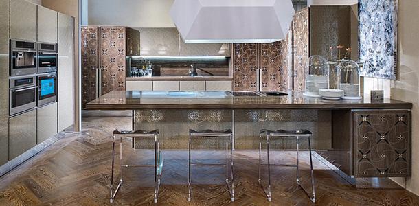 Шикарный интерьер элитной кухни от Cadore