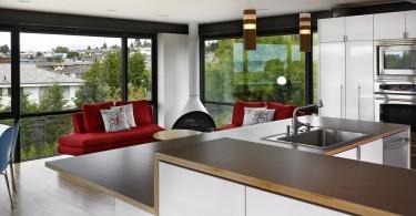 Дизайн ламинированной кухонной столешницы, стилизованной под дерево от BAAN design
