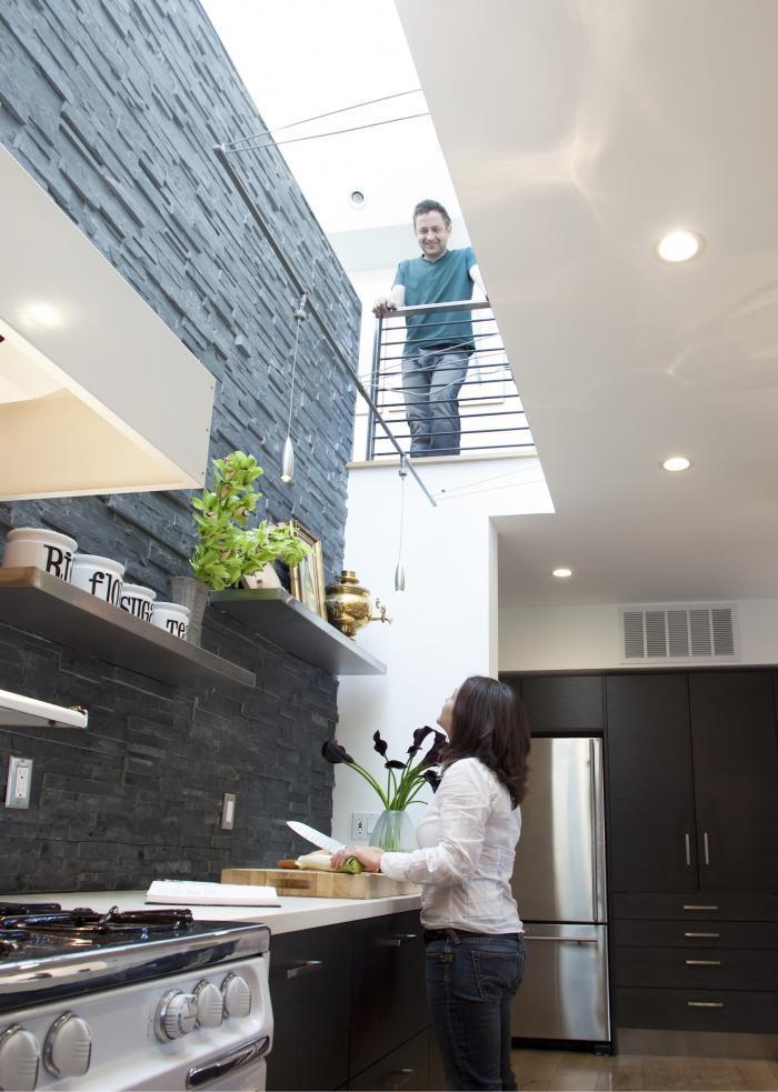 Открытая планировка в интерьере кухни от Feldman Architecture, Inc.