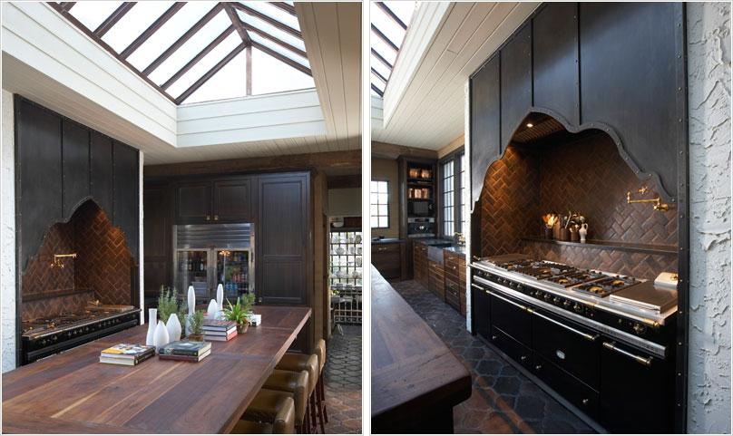 Фотоколлаж: стеклянная крыша в интерьере кухни от Tracery Interiors