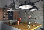 Уникальный дизайн интерьера кухни в лофт-стиле