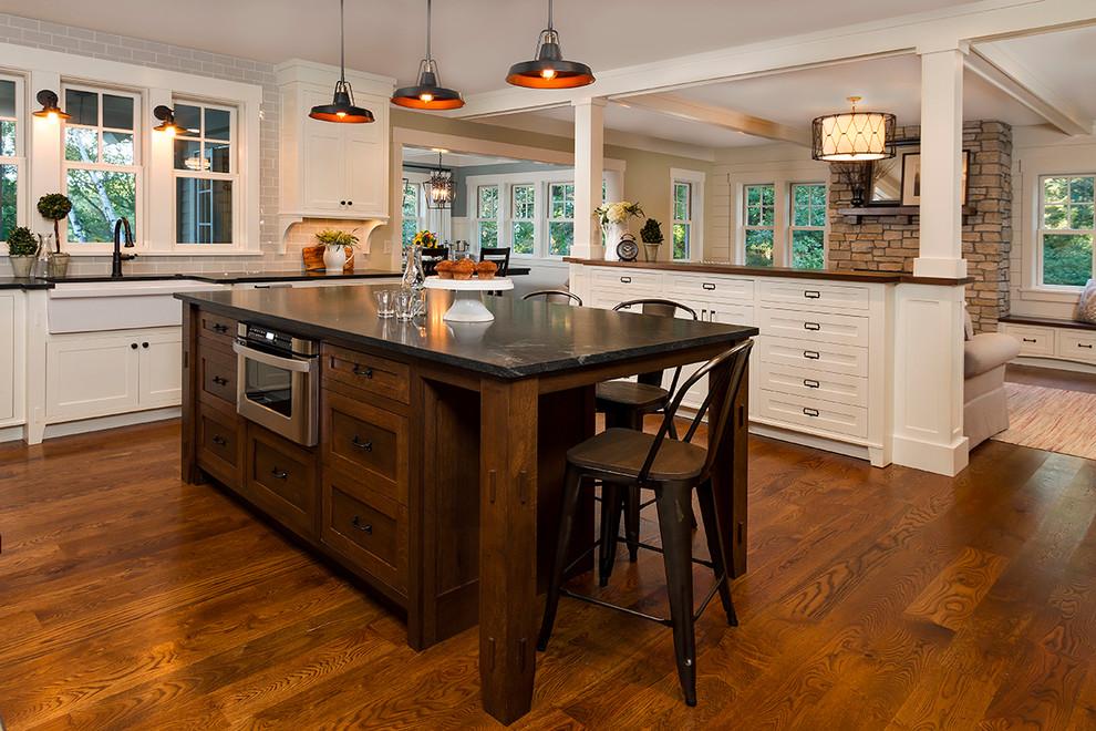 Стильные идеи дизайна интерьера кухни - деревенский шик