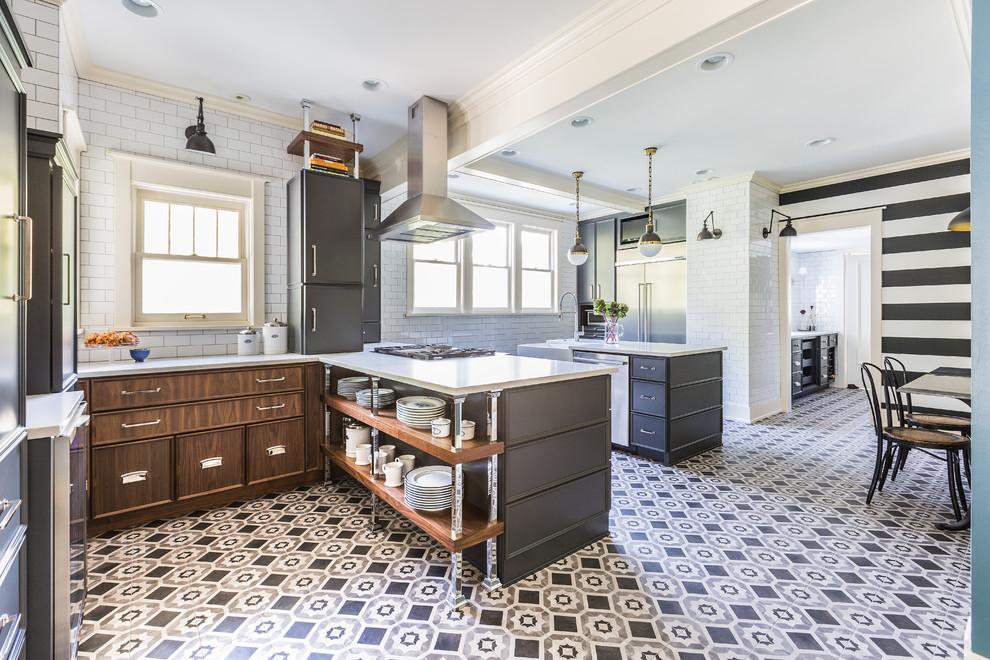 Стильные идеи дизайна интерьера кухни - сверкающий пол